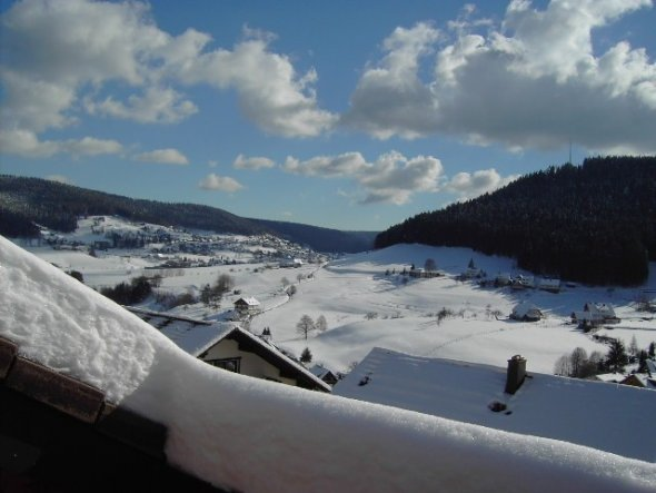 Wohnzimmer 'Dachterassenblick im Winter'
