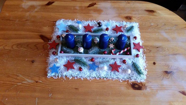 selbstgebastelter adventskranz