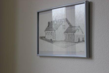 Unser Häuschen gezeichnet