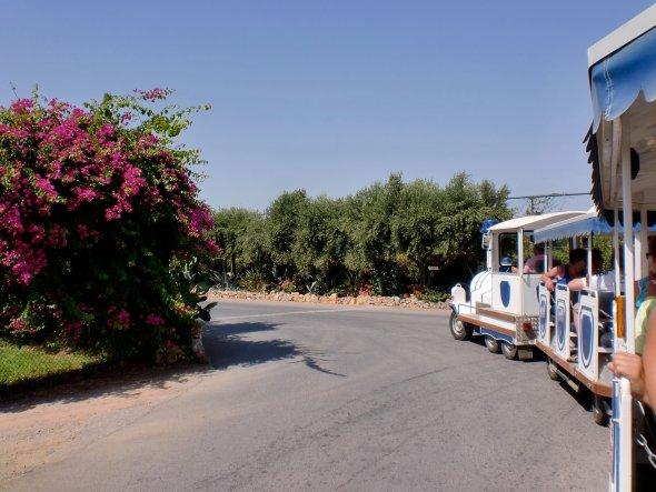 Bimmelbahn Fahrt durch Kreta