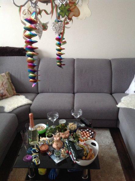 Im Wohnzimmer Silvester & Co