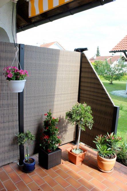 Rattan Sichtschutzwand passend zu Möbel