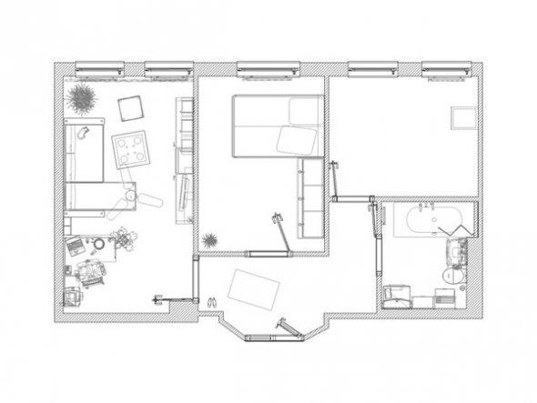 Der Grundriss meiner Wohnung
