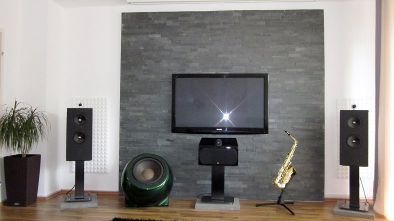 Awesome Schiefer Wand Wohnzimmer Images - Ideas & Design ...
