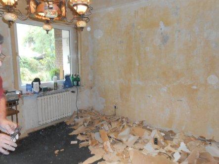 Wohnzimmer 'Entrümpeln & Abreissen'