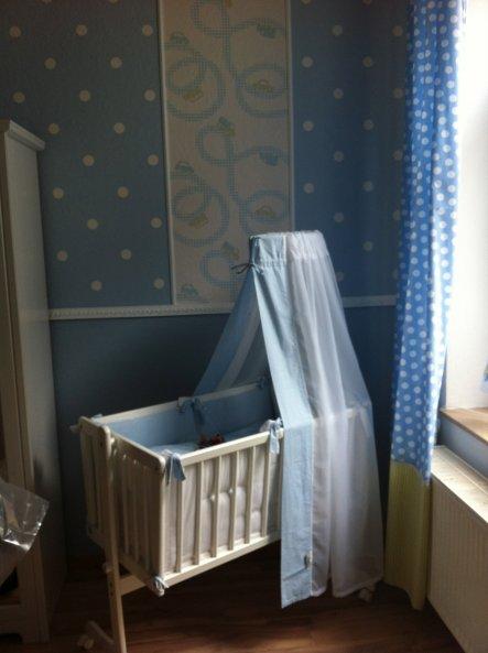 Die blaue Seite im Babyzimmer