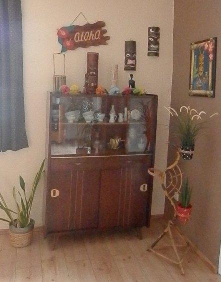 Tiki-Ecke in unserem Esszimmer
