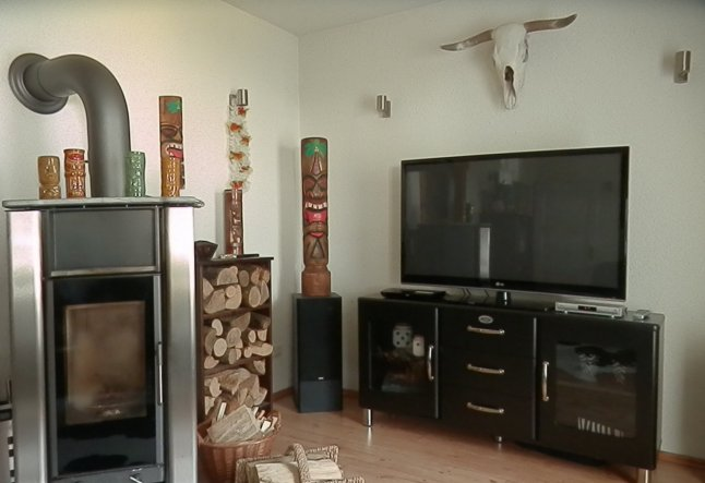 Kaminecke im Wohnzimmer
