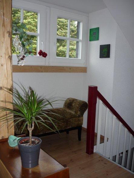 Treppenabgang vom Arbeitszimmer