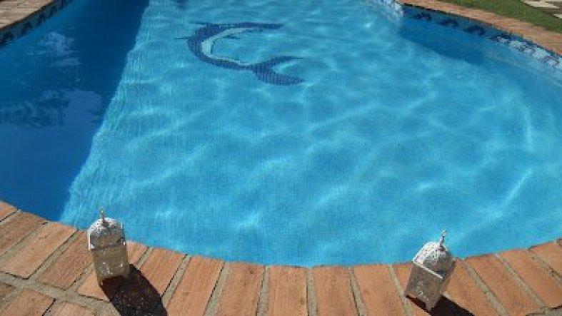 Blick auf den Pool.