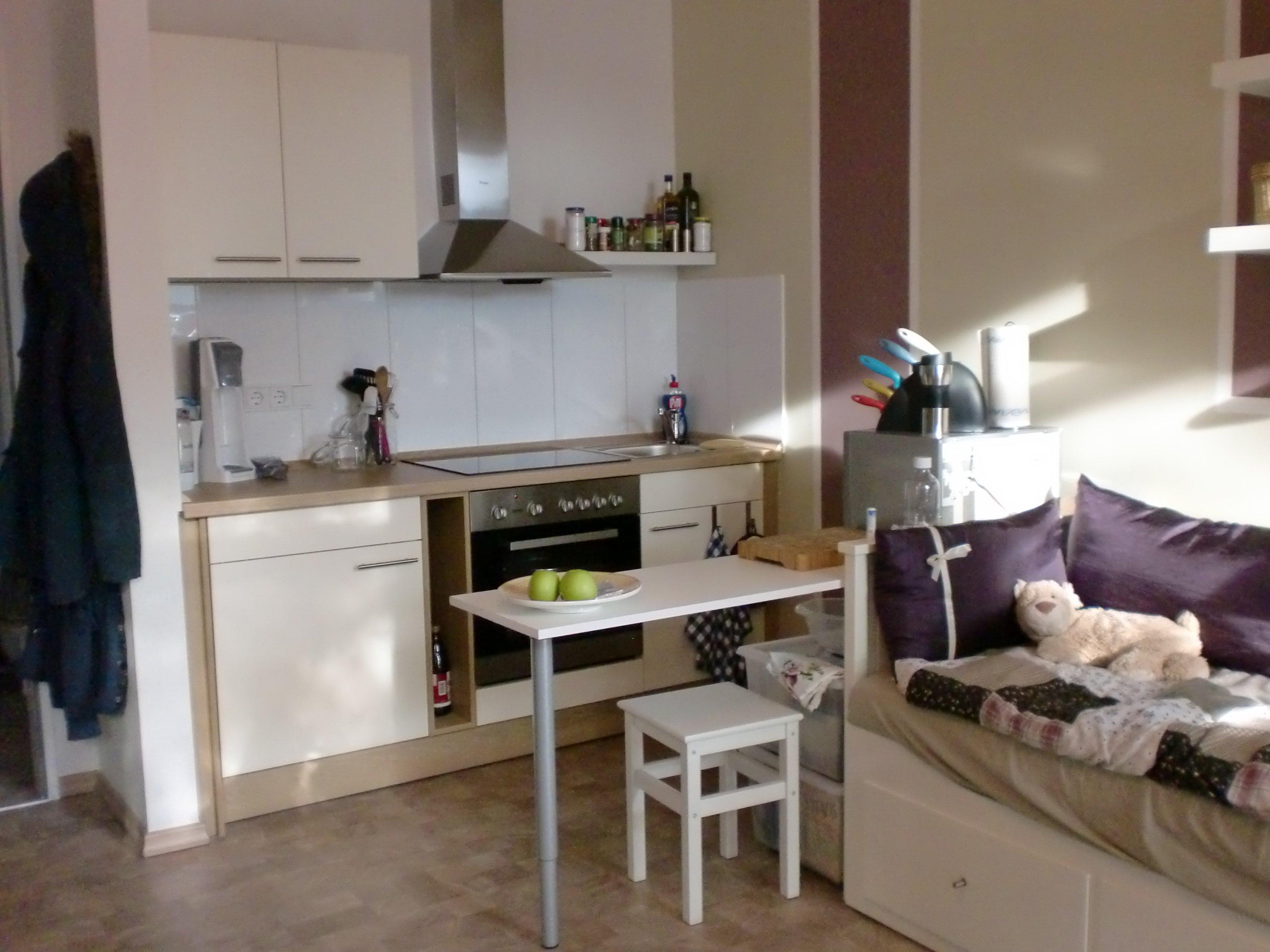 wohnzimmer 'meine 1. wohnung' - mein domizil - zimmerschau - Kleine Kuche Im Wohnzimmer