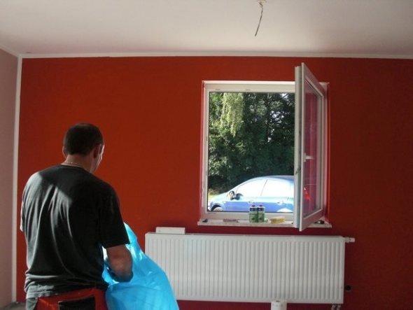 wohnzimmer rote wand:wohnzimmer rote wand : Wohnzimmer Wohnzimmer Landleben Zimmerschau