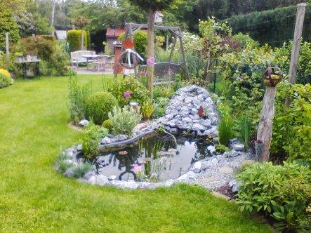 Der neu angelegte Teich