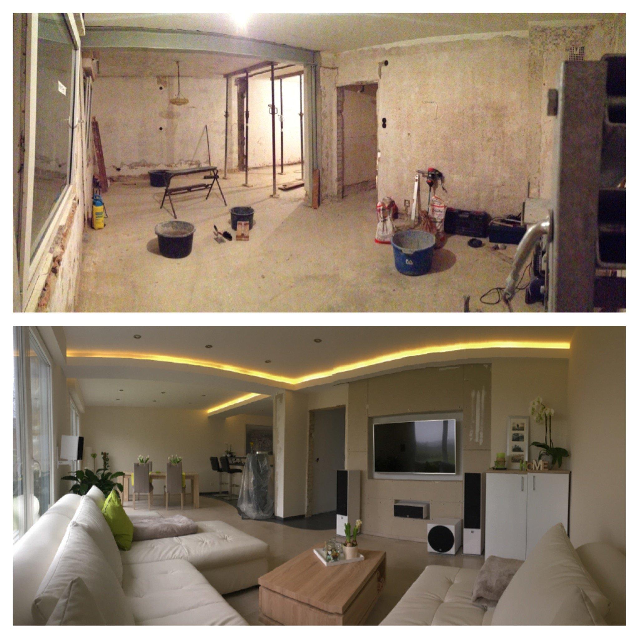 Wohnzimmer Ideen Vorher Nachher: Design