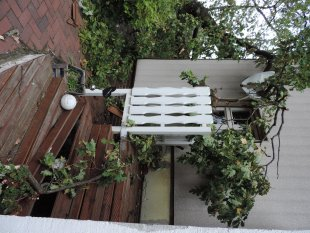 Sturm zerstört unser Haus / Fassade Aussenansicht 2017