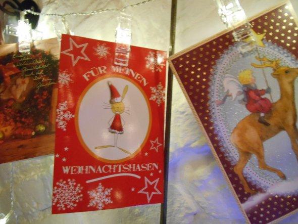 Die Karte habe ich 2014 von meinem Mann geschenkt bekommen, ich überlege immernoch mir mal ein Weihnachtsbabydoll zu kaufen und dann noch Hasenohren a