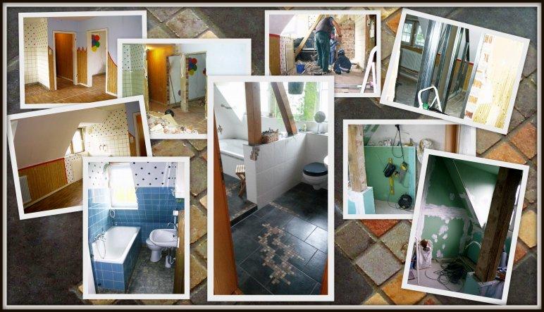 ... in der oberen Etage gab es ein kleines Badezimmer und eine Wohnküche mit einem angegliederten Schlafraum.  Da wir aber ein großes Bad und z