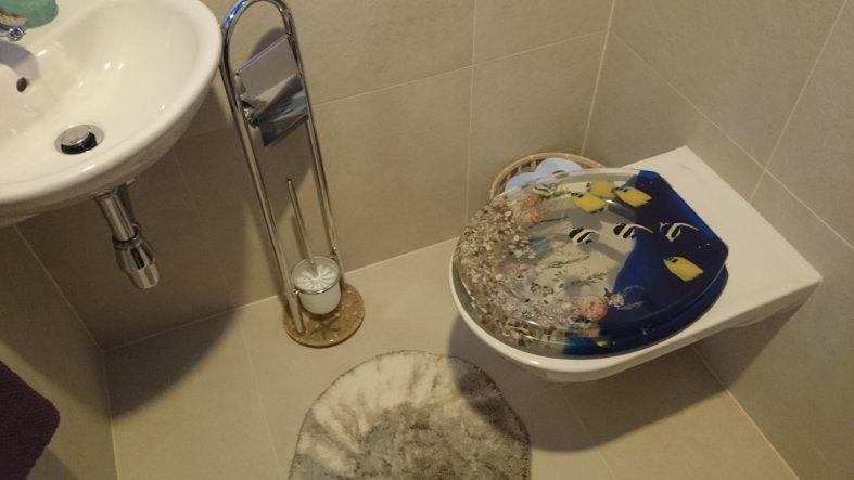 Natürlich habe ich auch den Deckel des WCs passend ausgewählt. :-)