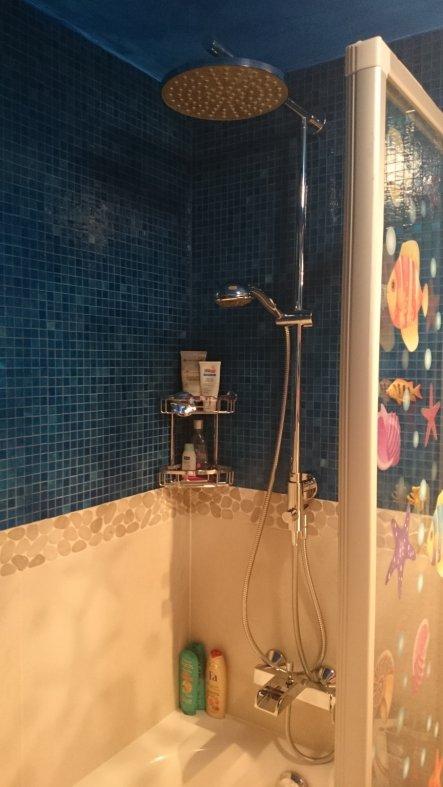 Endlich eine Regendusche... und eine Wasserfallamatur für die Badewanne. :-)