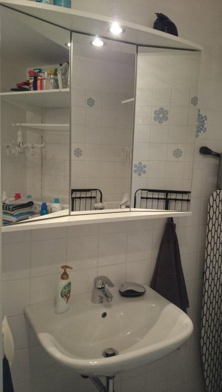 Es ist total praktisch, über dem Katzenklo ein Waschbecken zu haben. :-)