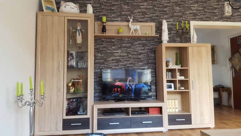 Wohnwand Mit Steintapete ~ Kreatives Haus Design Steintapete Beige Wohnzimmer
