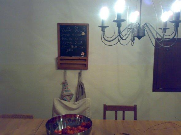 kleine Tafel für nette Denkenspiele wenn Gäste kommen !!