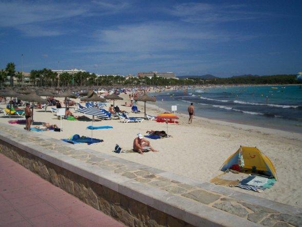 Strandabschnitt von Sa Coma