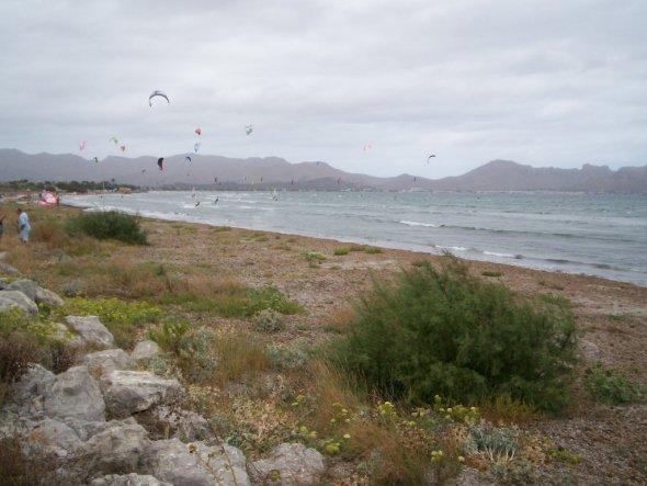 ..ideale Bedingungen für Windsurfer