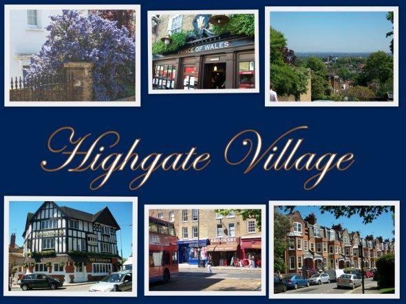 Ich war schon einige Male in London, aber zum ersten Mal in Highgate Village....ein kleiner Vorort von London...