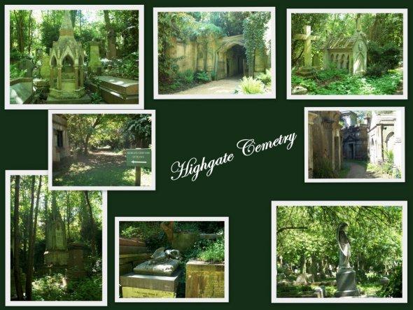 Highgate Cemetry ist der bekannteste Friedhof London's, wurde 1839 eröffnet und noch heute genutzt.Dieser westliche Teil mit seinen wunderschönen vikt