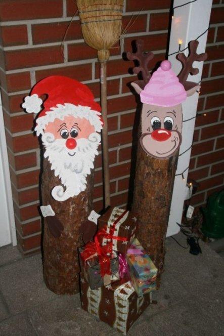 Decoration De Noel Pour Rebord De Fenetre En Bois