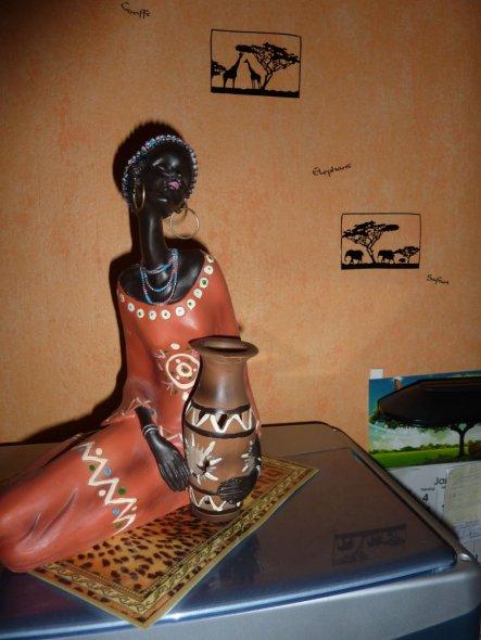 ein Objekt meines afrikanischen Zimmers