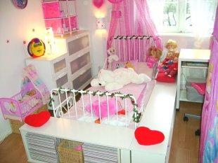 rosa Wolke-Schlafbereich