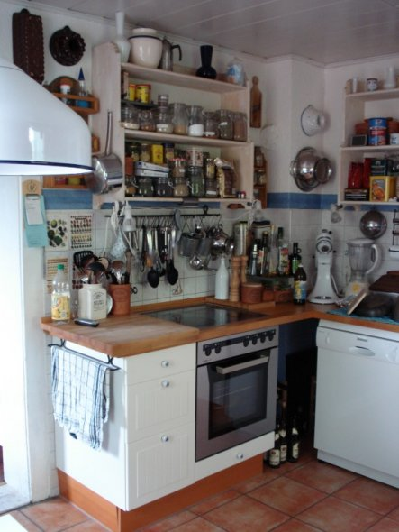 Küche 'Mittelpunkt des Hauses vor der Erneuerung 2009'
