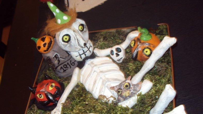 Salzteigfriedhof zu Halloween ;c)