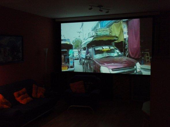 """Wohnzimmer vom Eingang aus gesehen als """"Kinoraum"""""""