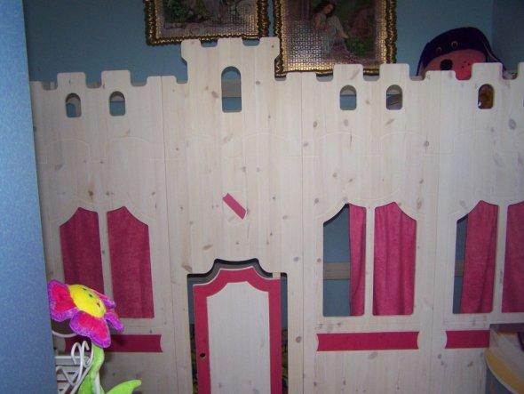 hochbett burg hochbett burg deluxe kinderbett kinderbett ritterbett burgbett aus massivholz. Black Bedroom Furniture Sets. Home Design Ideas