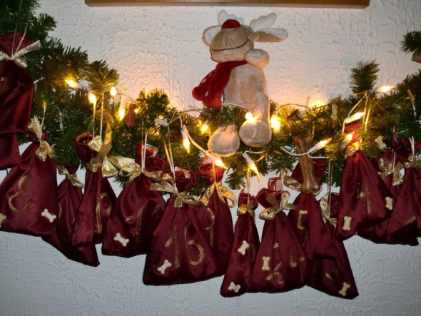 Weihnachtsdeko 'Tierischer Weihnachtskalender'
