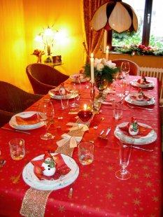 Tischdeko zu Nikolaus