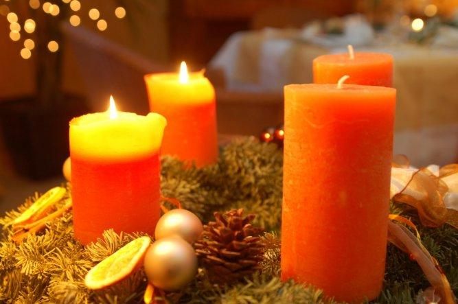 Weihnachtsdeko 'Tisch im Advent'
