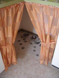 Haustiere 'Katzen Essecke in der Küche'