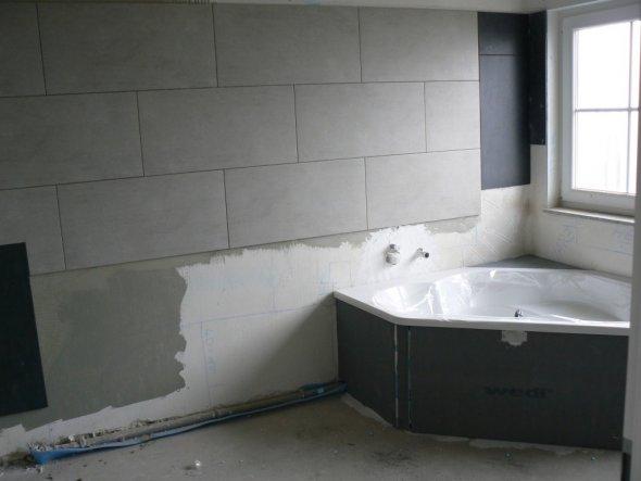 Wohnzimmer 'in der Bauphase'