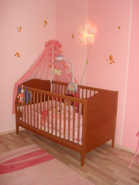 So sah Mina's Babybett aus...