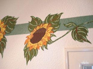 flur mit sonnenblumen