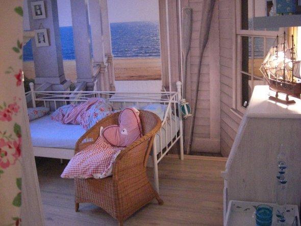 das Bett am Strand