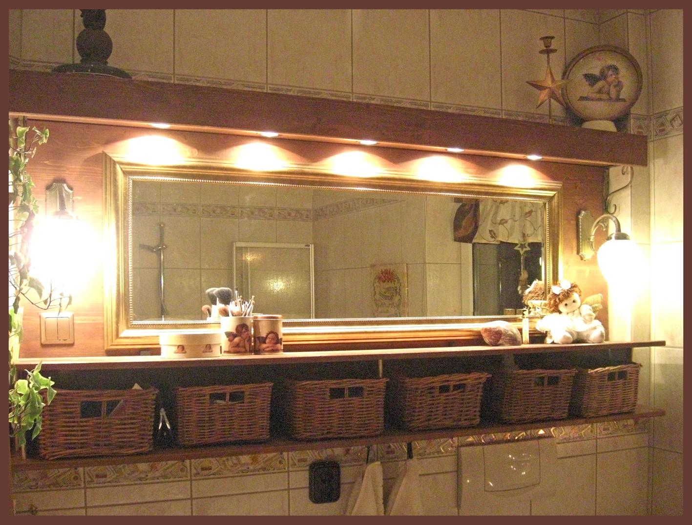 Das Selbstgewerkelte Spiegel Beleuchtungs Körbchen Ding