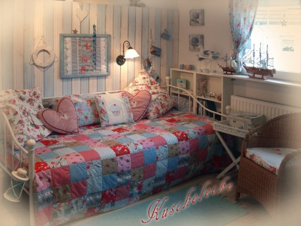 Bett umgestellt