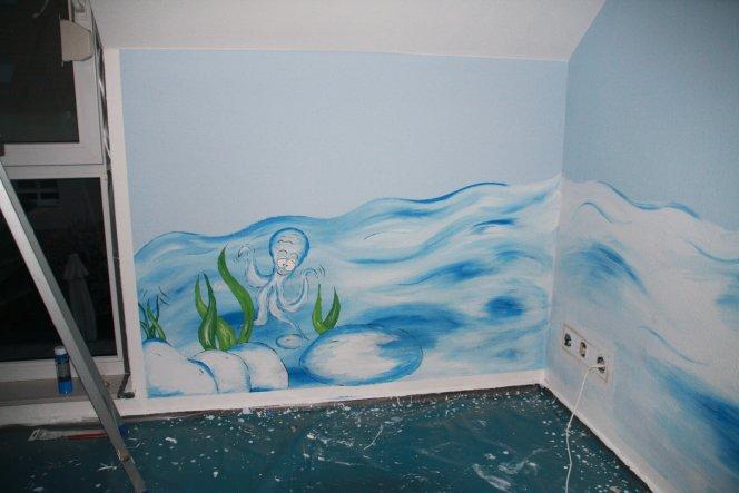 Kinderzimmer 'Unter Wasser zum Geburtstag'
