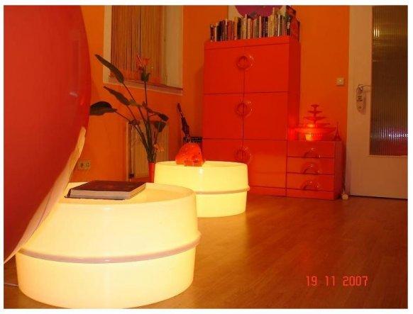 2 Leuchttische Design Verner Panton