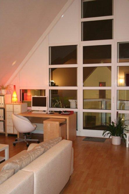 Wohnzimmer 'wohn-, Schlaf- Und Arbeitszimmer' - Mein Kleines Reich ... Schlafzimmer Und Arbeitszimmer In Einem Raum